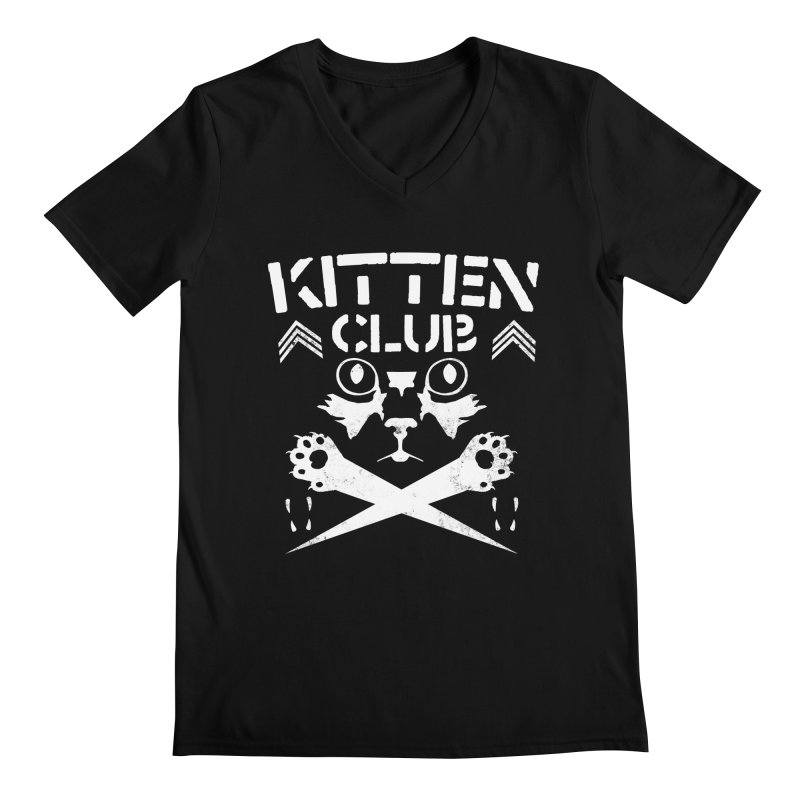Kitten Club Men's Regular V-Neck by Stevie Richards Artist Shop