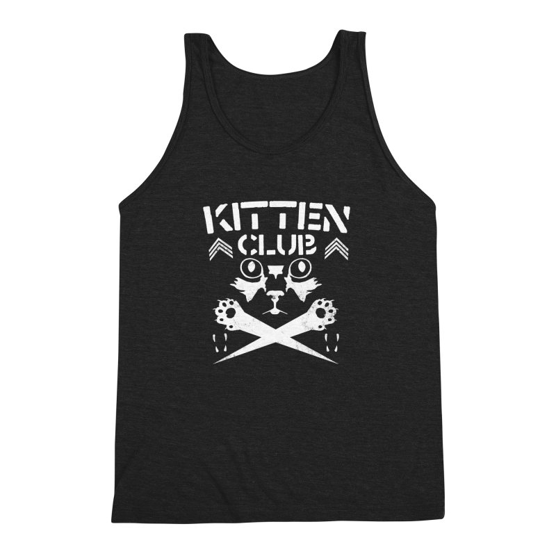 Kitten Club Men's Triblend Tank by Stevie Richards Artist Shop