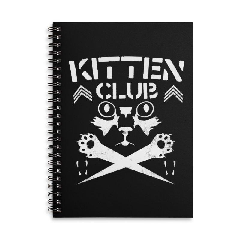 Kitten Club Accessories Lined Spiral Notebook by Stevie Richards Artist Shop