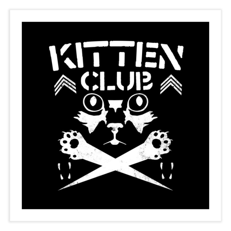 Kitten Club Home Fine Art Print by Stevie Richards Artist Shop