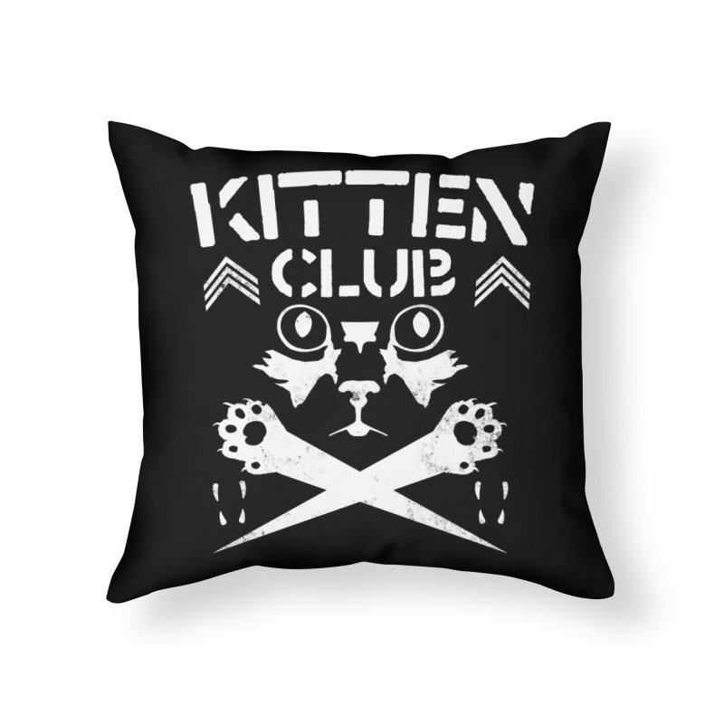 Kitten Club Home Throw Pillow by Stevie Richards Artist Shop