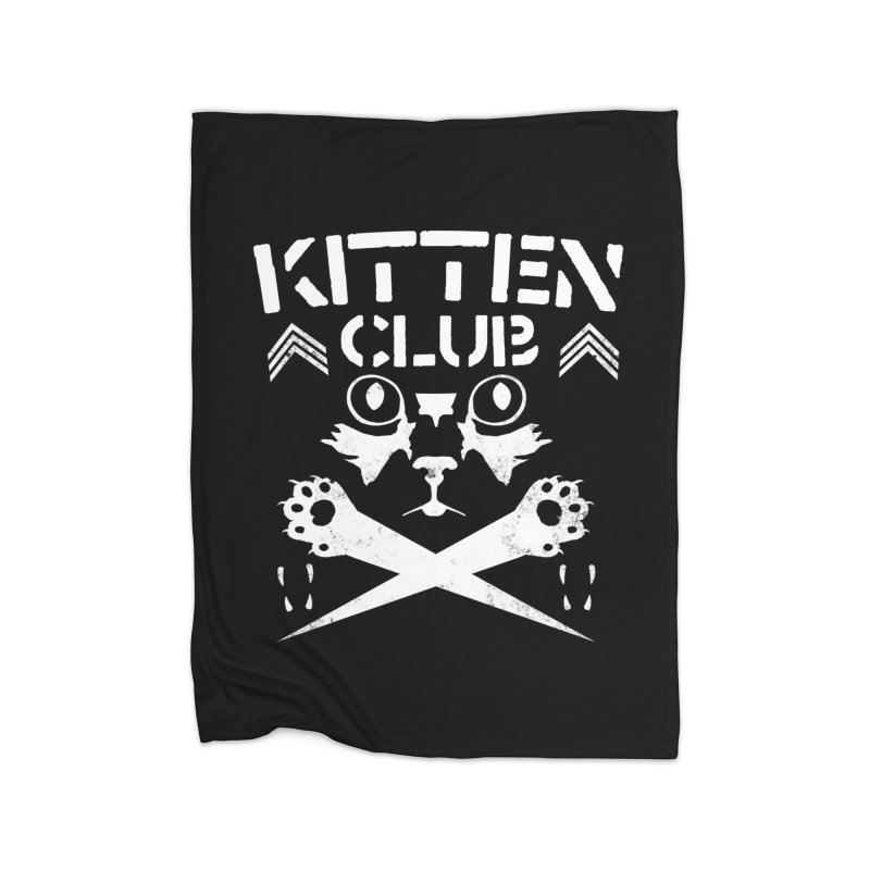 Kitten Club Home Fleece Blanket Blanket by Stevie Richards Artist Shop