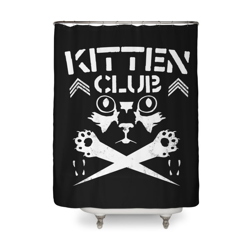 Kitten Club Home Shower Curtain by Stevie Richards Artist Shop