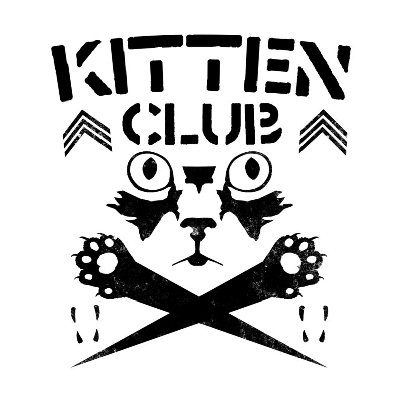 Kitten Club Black Home Blanket by Stevie Richards Artist Shop