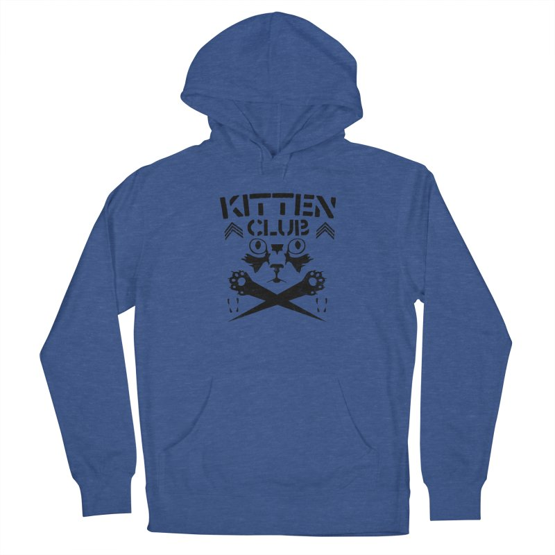 Kitten Club Black Women's French Terry Pullover Hoody by Stevie Richards Artist Shop