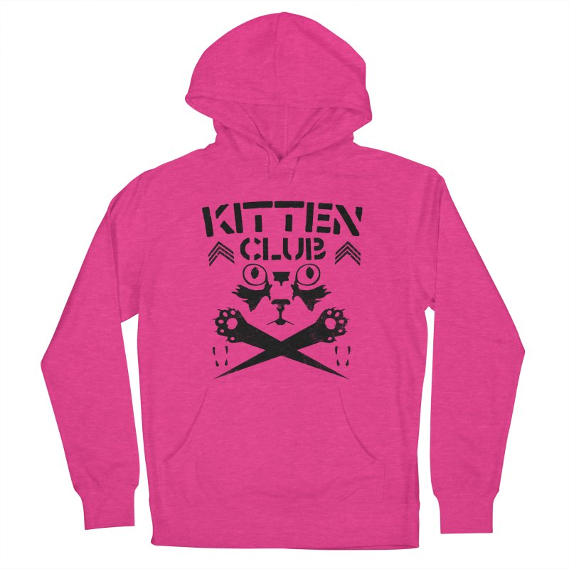 Kitten Club Black Women's Pullover Hoody by Stevie Richards Artist Shop