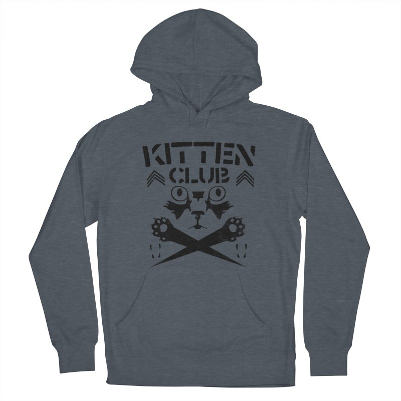 Kitten Club Black Men's Pullover Hoody by Stevie Richards Artist Shop