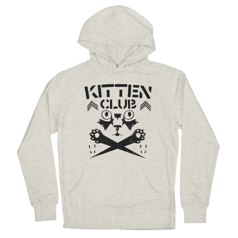 Kitten Club Black Men's French Terry Pullover Hoody by Stevie Richards Artist Shop