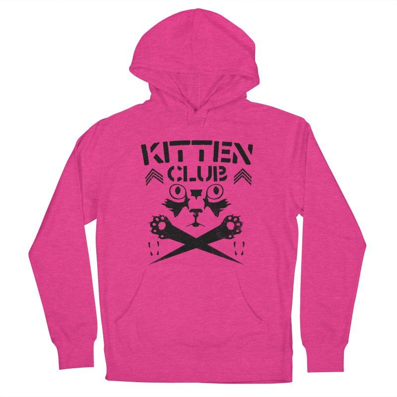 Kitten Club Black Men's French Terry Pullover Hoody by Stevie Richards Artist Shop