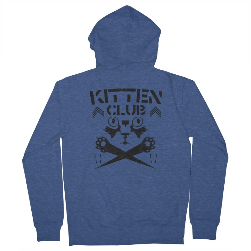 Kitten Club Black Women's French Terry Zip-Up Hoody by Stevie Richards Artist Shop