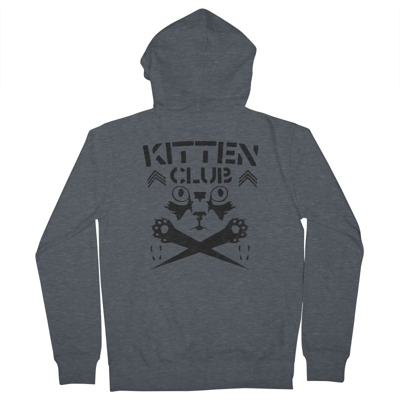 Kitten Club Black Women's Zip-Up Hoody by Stevie Richards Artist Shop