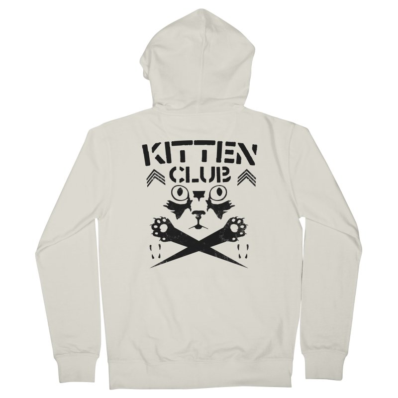 Kitten Club Black Men's French Terry Zip-Up Hoody by Stevie Richards Artist Shop