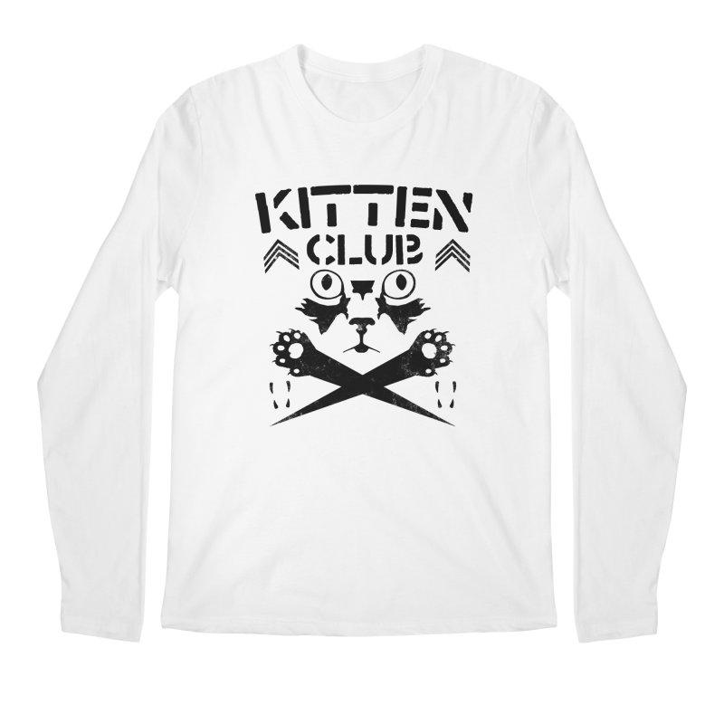 Kitten Club Black Men's Longsleeve T-Shirt by Stevie Richards Artist Shop