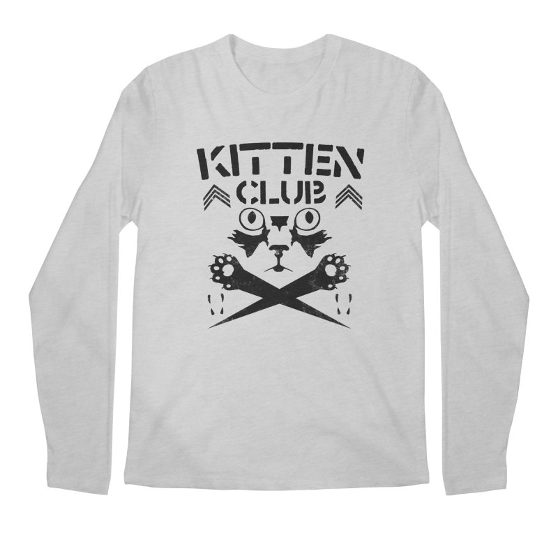 Kitten Club Black Men's Regular Longsleeve T-Shirt by Stevie Richards Artist Shop