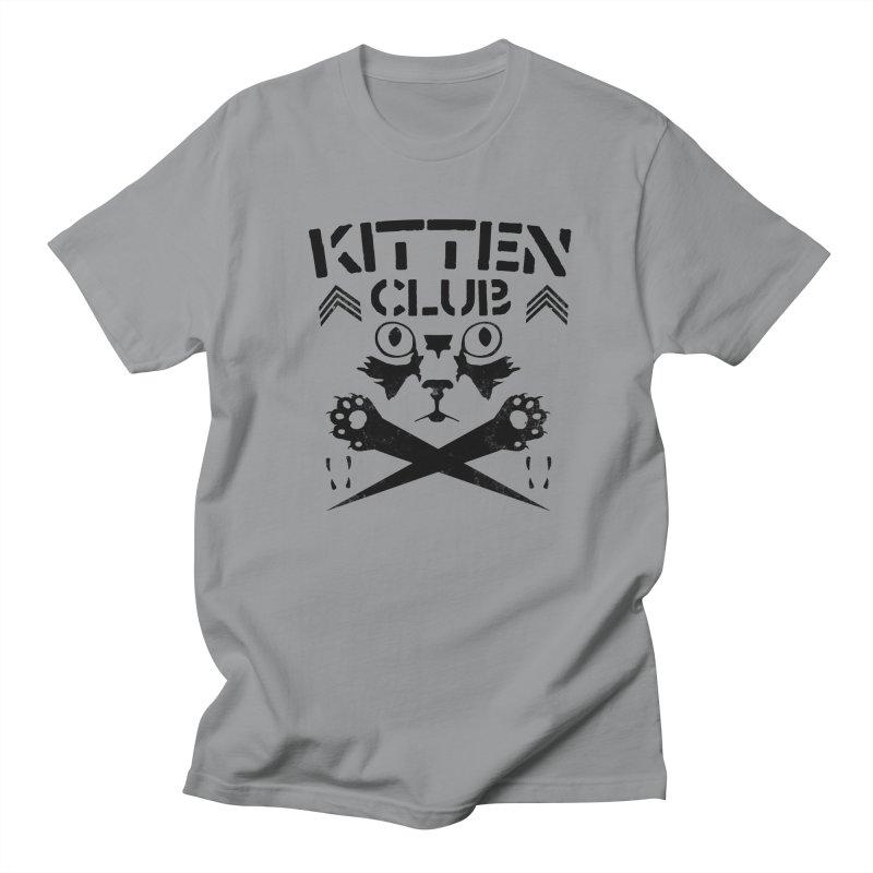 Kitten Club Black Men's Regular T-Shirt by Stevie Richards Artist Shop
