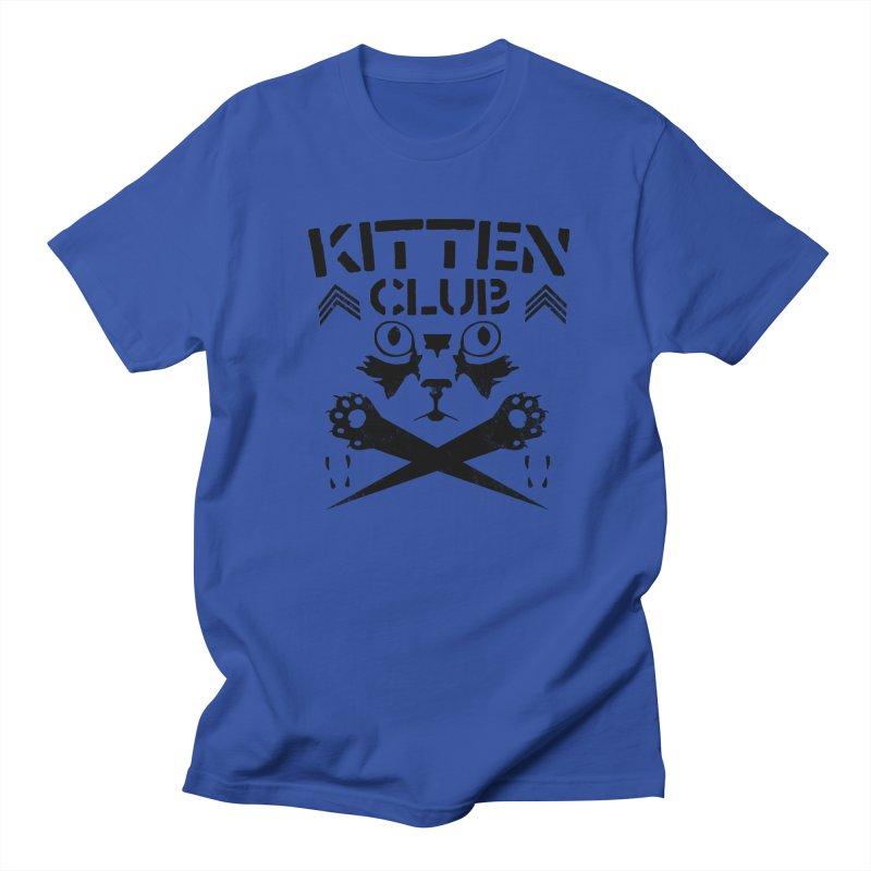 Kitten Club Black Women's Regular Unisex T-Shirt by Stevie Richards Artist Shop