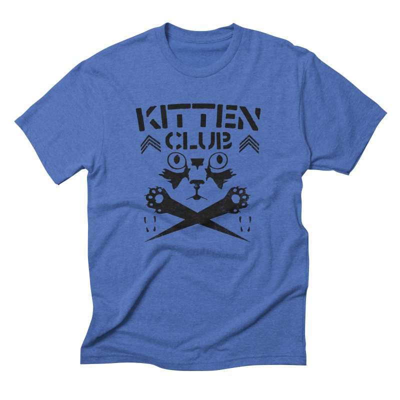 Kitten Club Black Men's Triblend T-Shirt by Stevie Richards Artist Shop