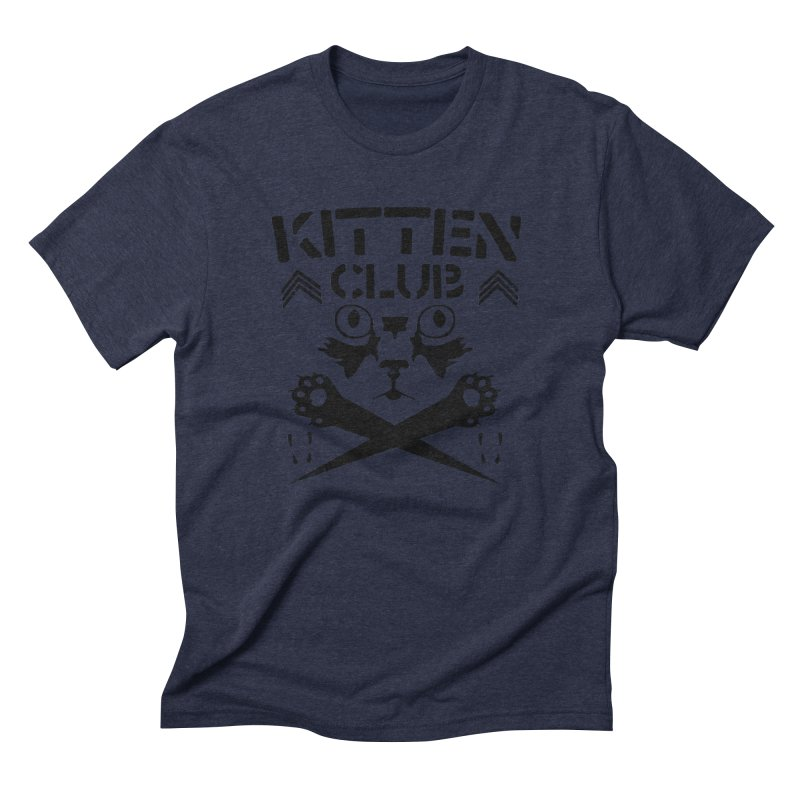 Kitten Club Black Men's Triblend T-shirt by Stevie Richards Artist Shop