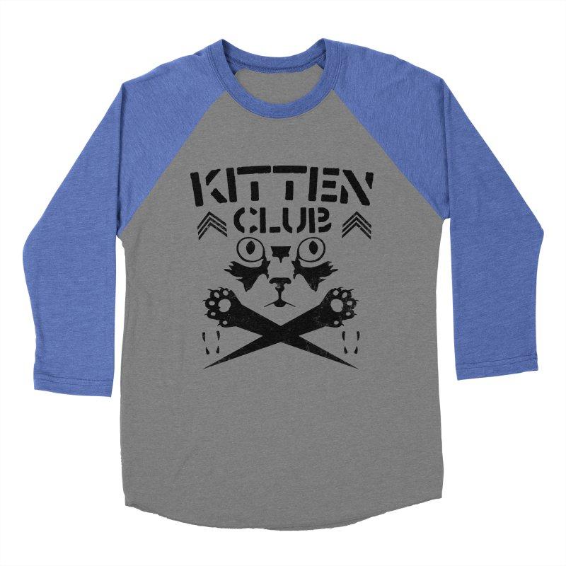 Kitten Club Black Men's Baseball Triblend T-Shirt by Stevie Richards Artist Shop