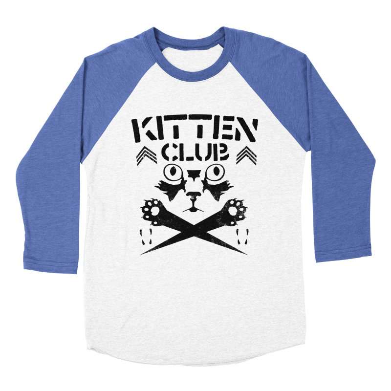 Kitten Club Black Men's Baseball Triblend T-Shirt by Stevie Richards Artist Shop