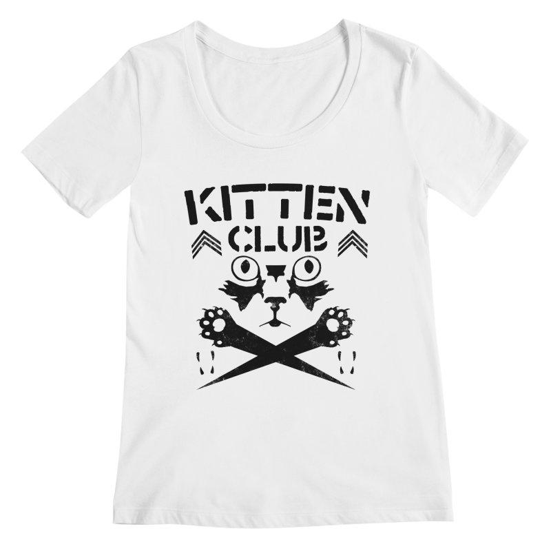 Kitten Club Black Women's Regular Scoop Neck by Stevie Richards Artist Shop