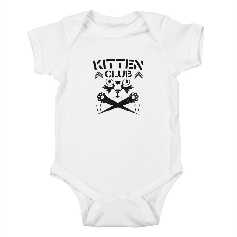 Kitten Club Black Kids Baby Bodysuit by Stevie Richards Artist Shop
