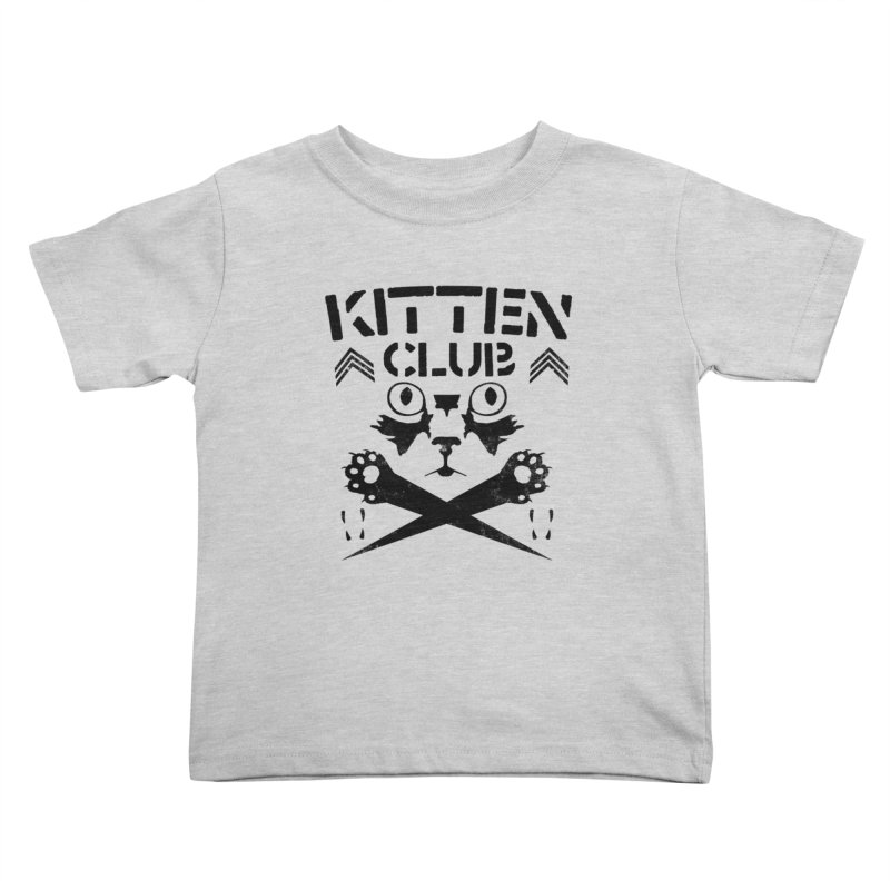 Kitten Club Black Kids Toddler T-Shirt by Stevie Richards Artist Shop