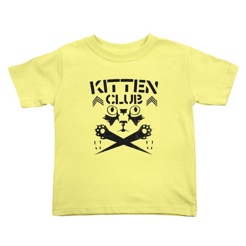 Kitten Club Black Kids Toddler T-Shirt by Stevie Richards Artist Shop