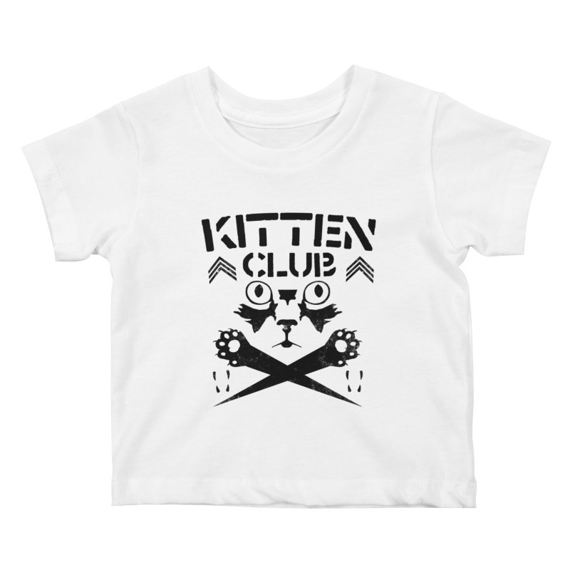 Kitten Club Black Kids Baby T-Shirt by Stevie Richards Artist Shop