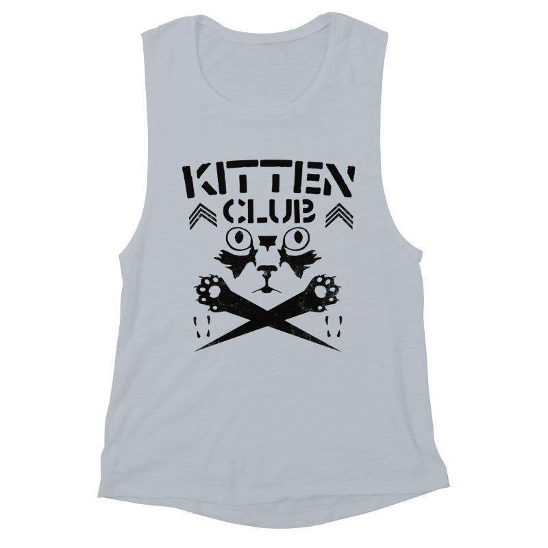 Kitten Club Black Women's Muscle Tank by Stevie Richards Artist Shop