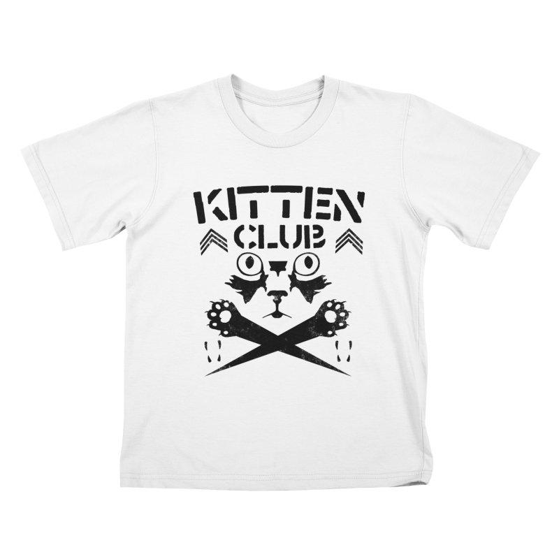 Kitten Club Black Kids T-shirt by Stevie Richards Artist Shop