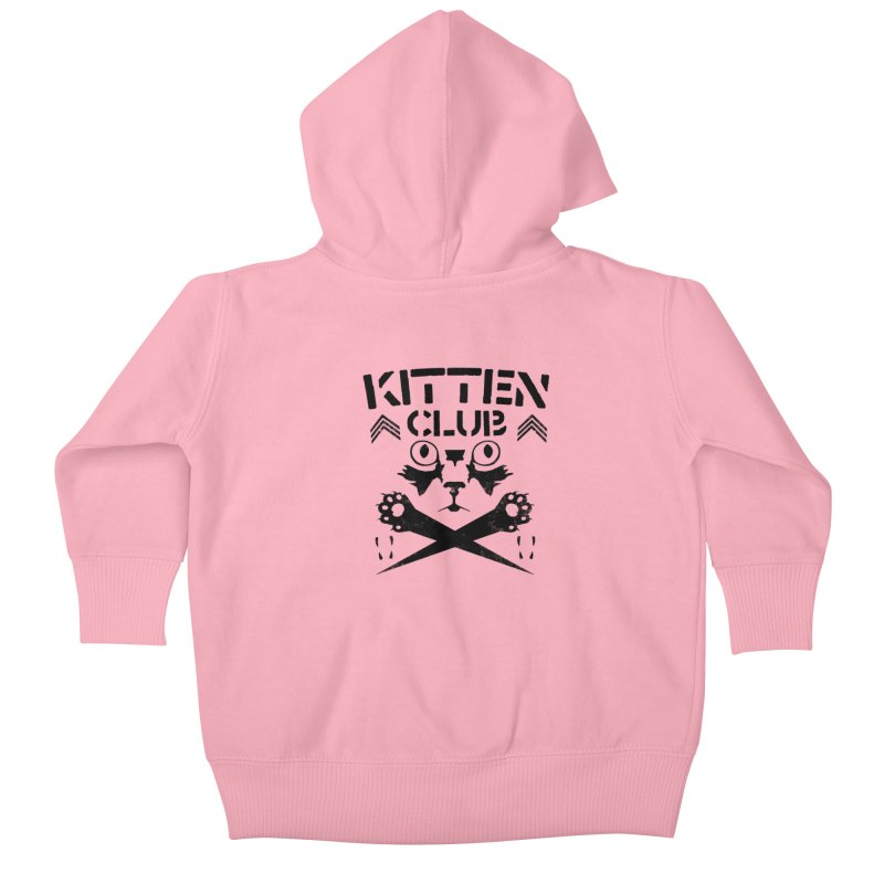 Kitten Club Black Kids Baby Zip-Up Hoody by Stevie Richards Artist Shop