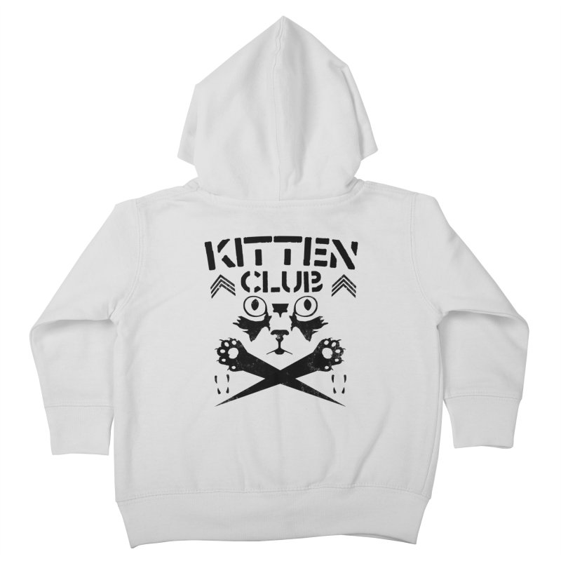 Kitten Club Black Kids Toddler Zip-Up Hoody by Stevie Richards Artist Shop