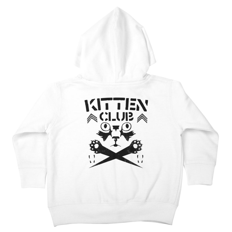 Kitten Club Black Kids Toddler Zip-Up Hoody by Stevie Richards Artist Shop