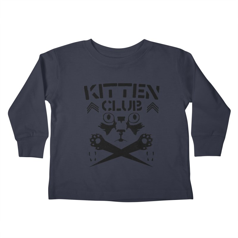 Kitten Club Black Kids Toddler Longsleeve T-Shirt by Stevie Richards Artist Shop
