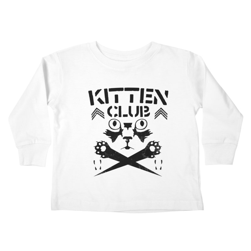 Kitten Club Black Kids Toddler Longsleeve T-Shirt by Stevie Richards Artist Shop