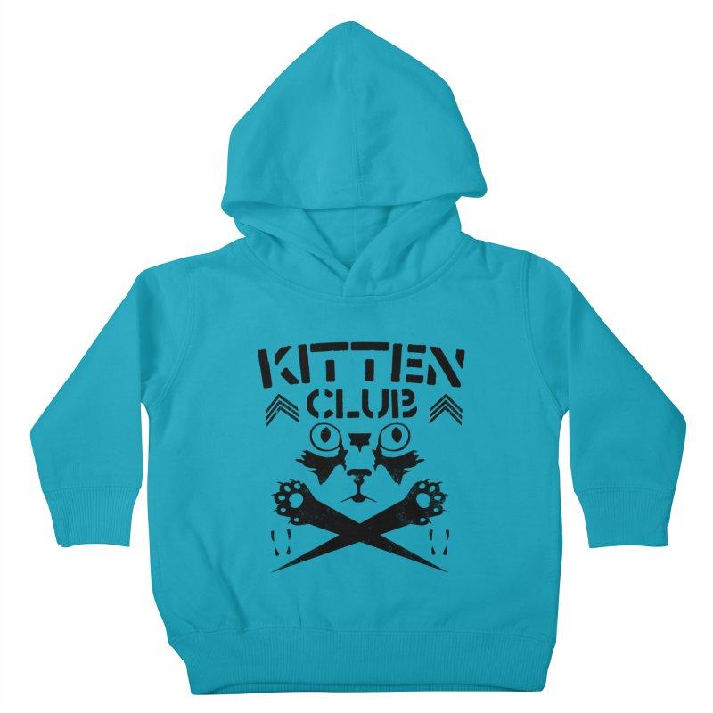 Kitten Club Black Kids Toddler Pullover Hoody by Stevie Richards Artist Shop