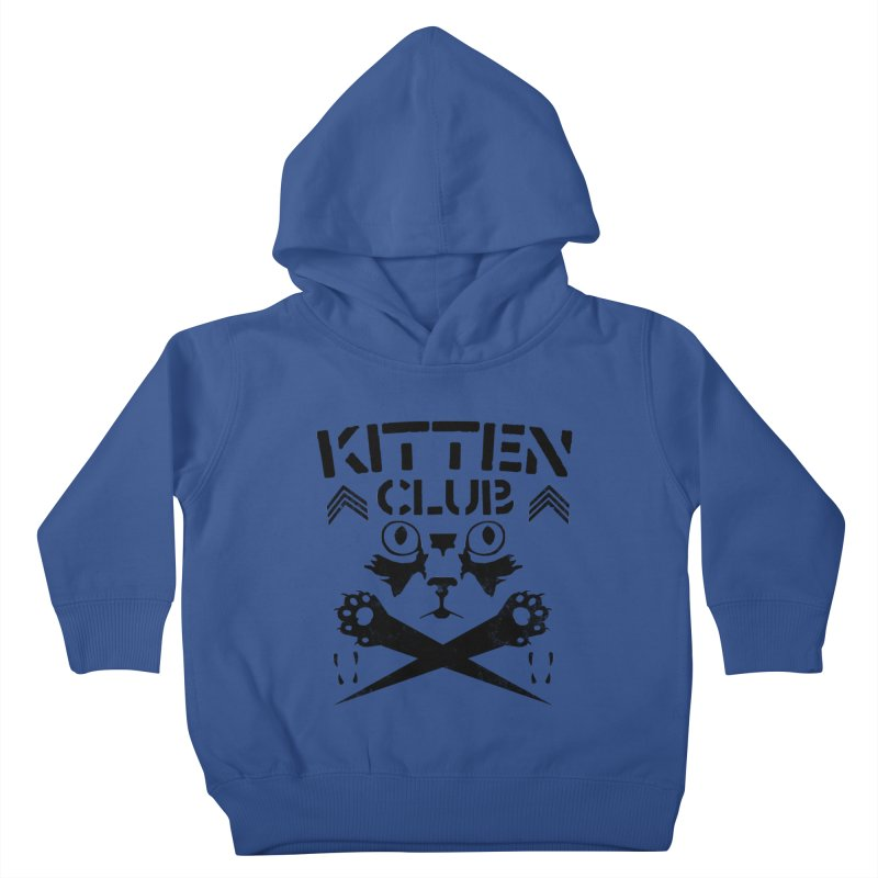 Kitten Club Black Kids Toddler Pullover Hoody by Stevie Richards Artist Shop