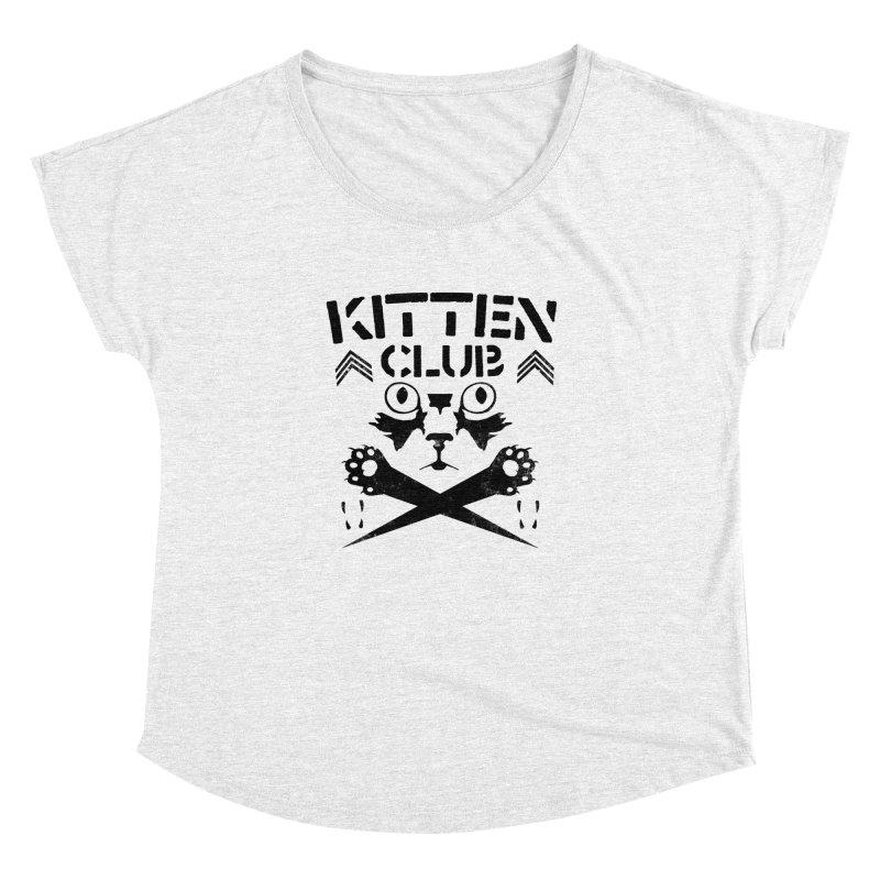 Kitten Club Black Women's Dolman by Stevie Richards Artist Shop