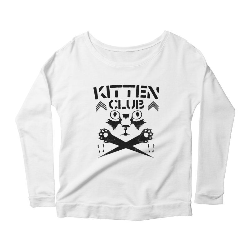 Kitten Club Black Women's Longsleeve Scoopneck  by Stevie Richards Artist Shop