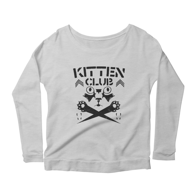 Kitten Club Black Women's Scoop Neck Longsleeve T-Shirt by Stevie Richards Artist Shop