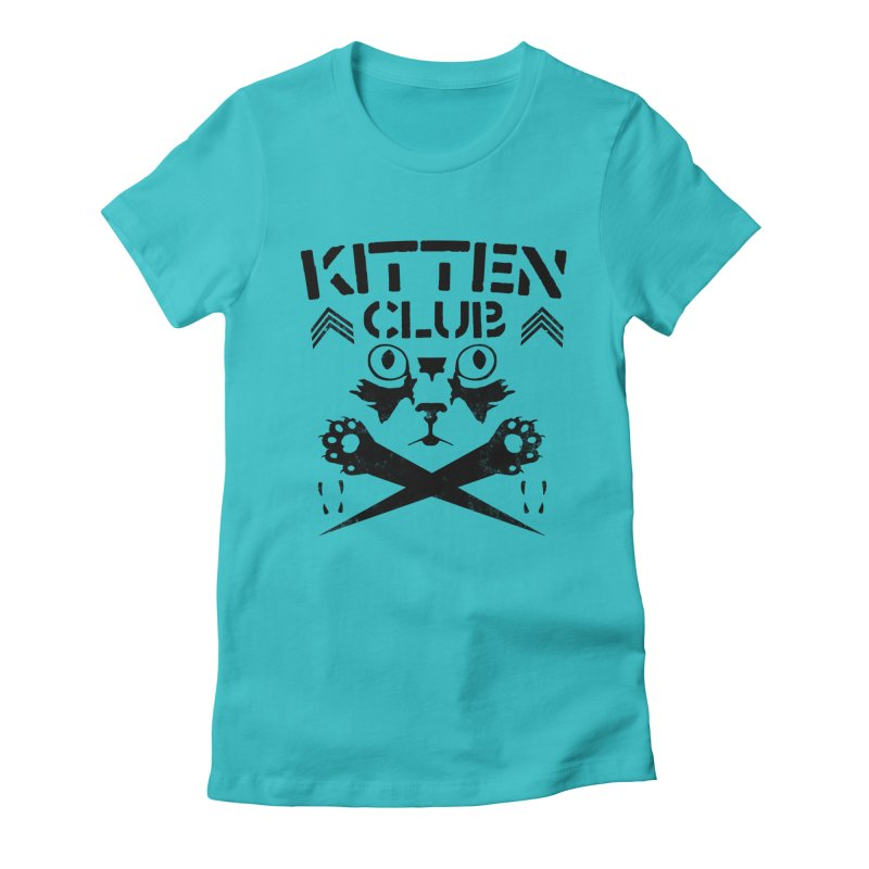 Kitten Club Black Women's Fitted T-Shirt by Stevie Richards Artist Shop