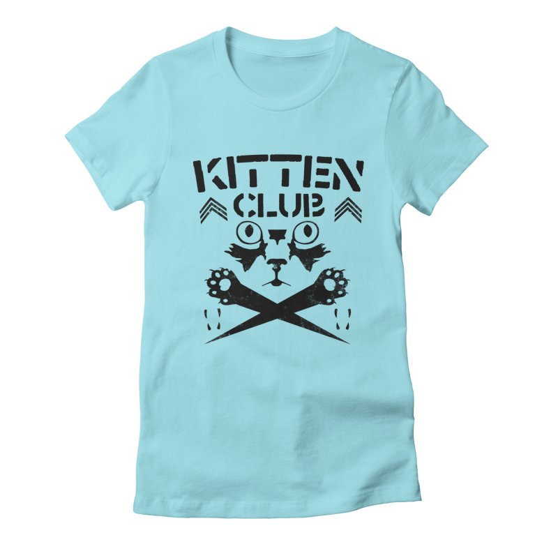 Kitten Club Black Women's Fitted T-Shirt by Stevie Richards Artist Shop