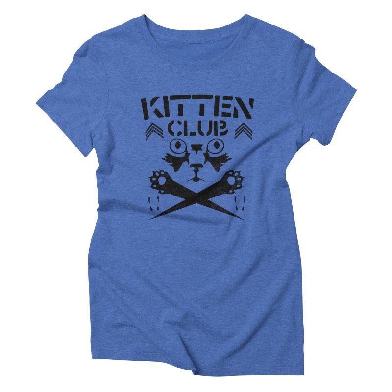 Kitten Club Black Women's Triblend T-Shirt by Stevie Richards Artist Shop