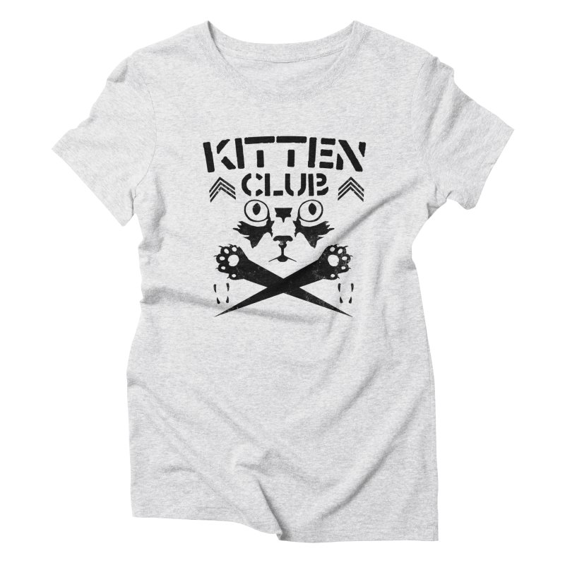 Kitten Club Black Women's Triblend T-Shirt by Stevie Richards Artist Shop