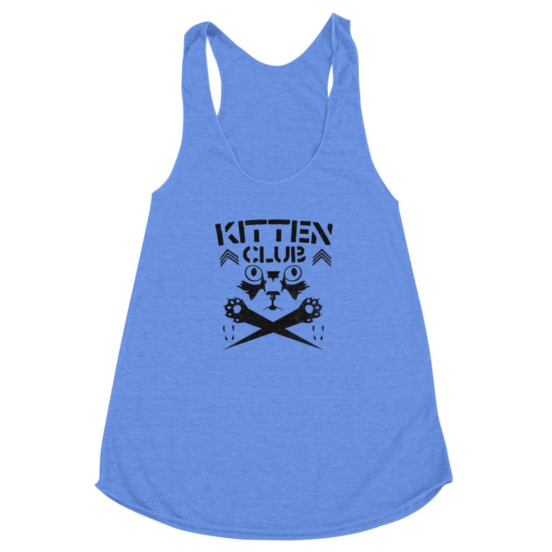 Kitten Club Black Women's Racerback Triblend Tank by Stevie Richards Artist Shop