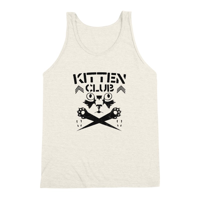 Kitten Club Black Men's Triblend Tank by Stevie Richards Artist Shop