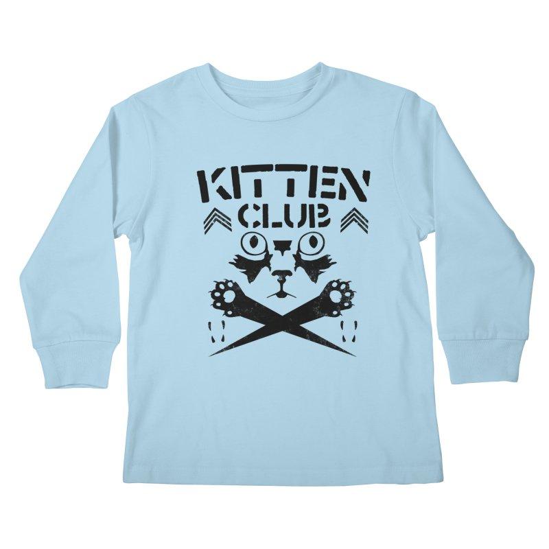 Kitten Club Black Kids Longsleeve T-Shirt by Stevie Richards Artist Shop