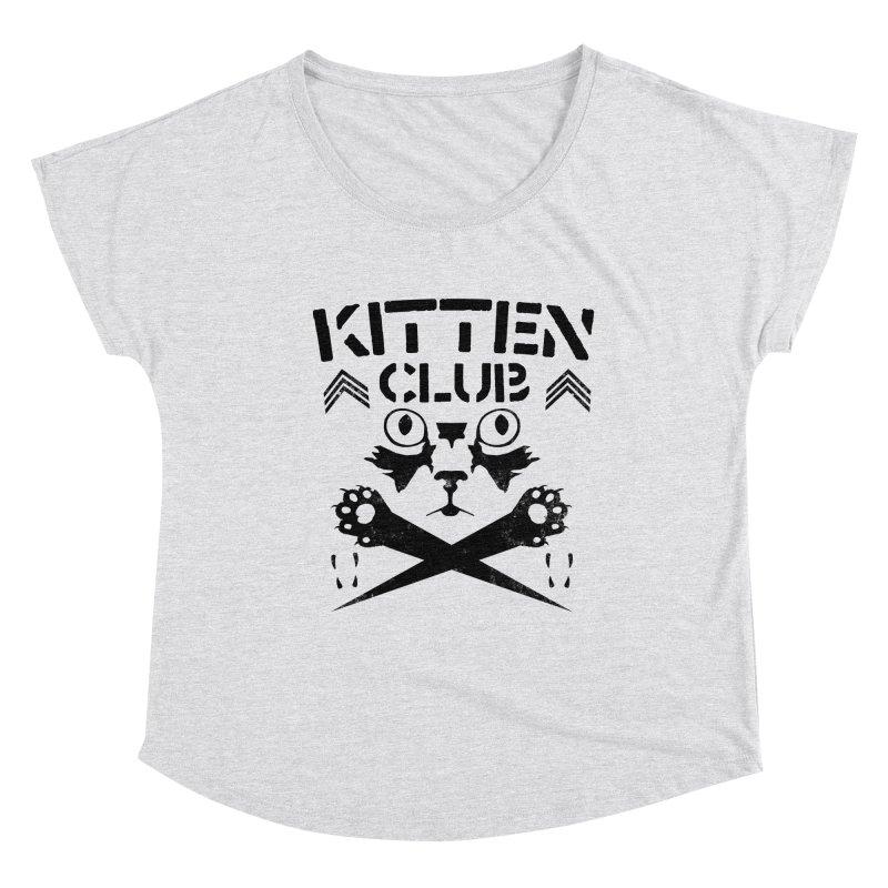 Kitten Club Black Women's Scoop Neck by Stevie Richards Artist Shop