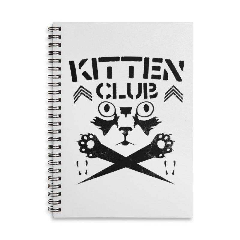 Kitten Club Black Accessories Lined Spiral Notebook by Stevie Richards Artist Shop
